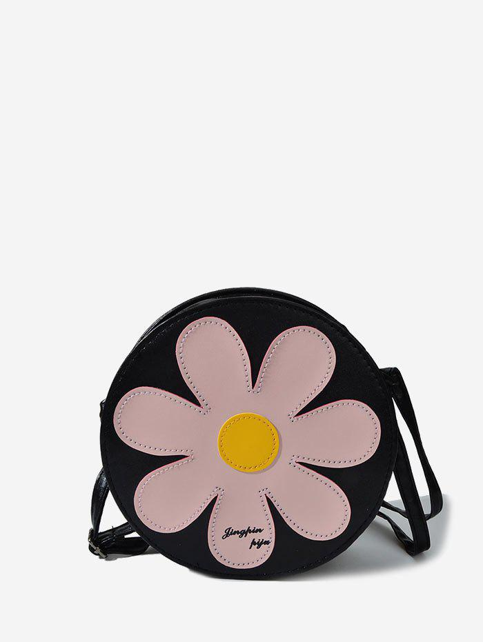 Floral Round Shoulder bag - LIGHT PINK
