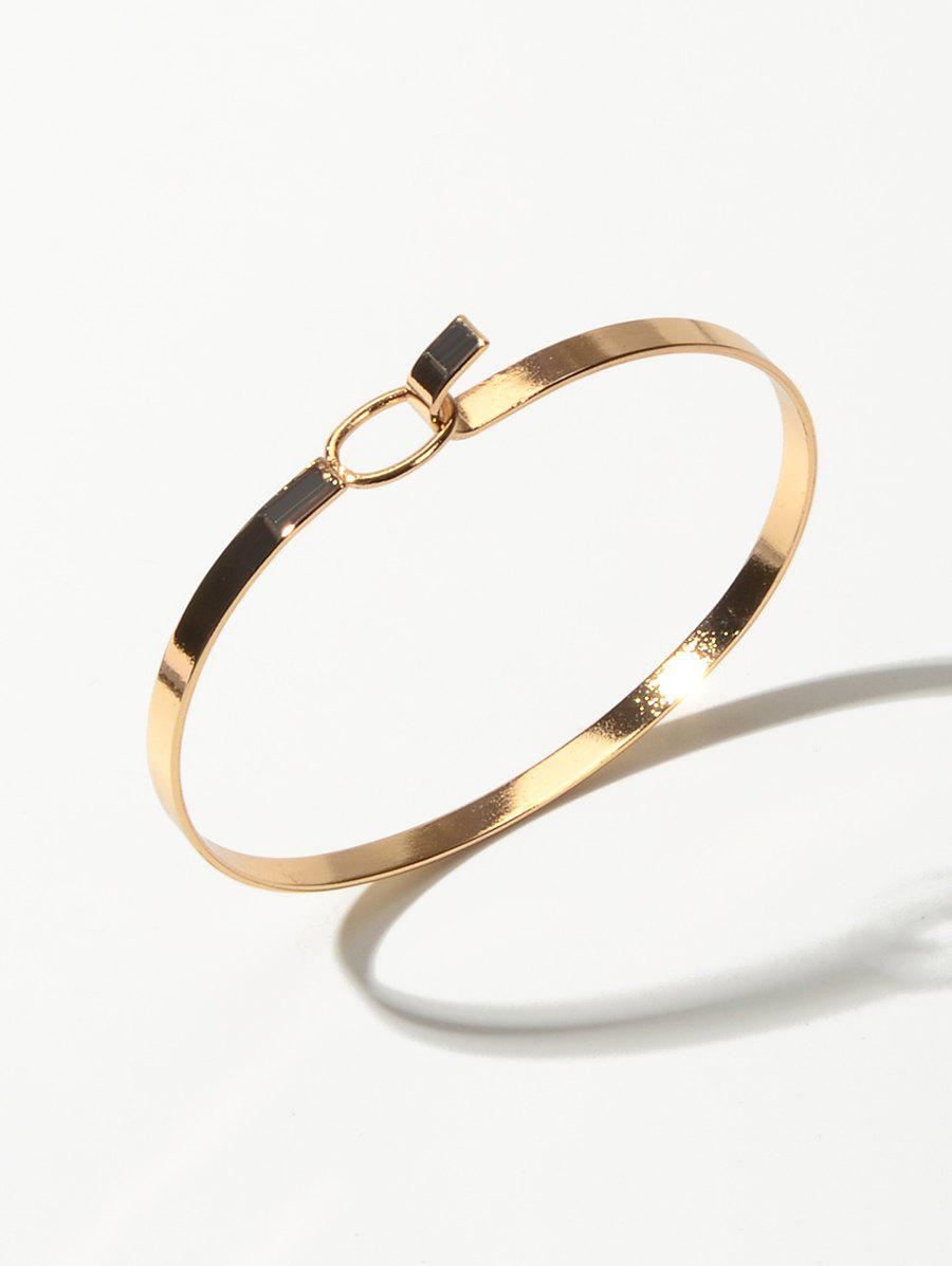 Minimalist Metal Bangle Bracelet - GOLD