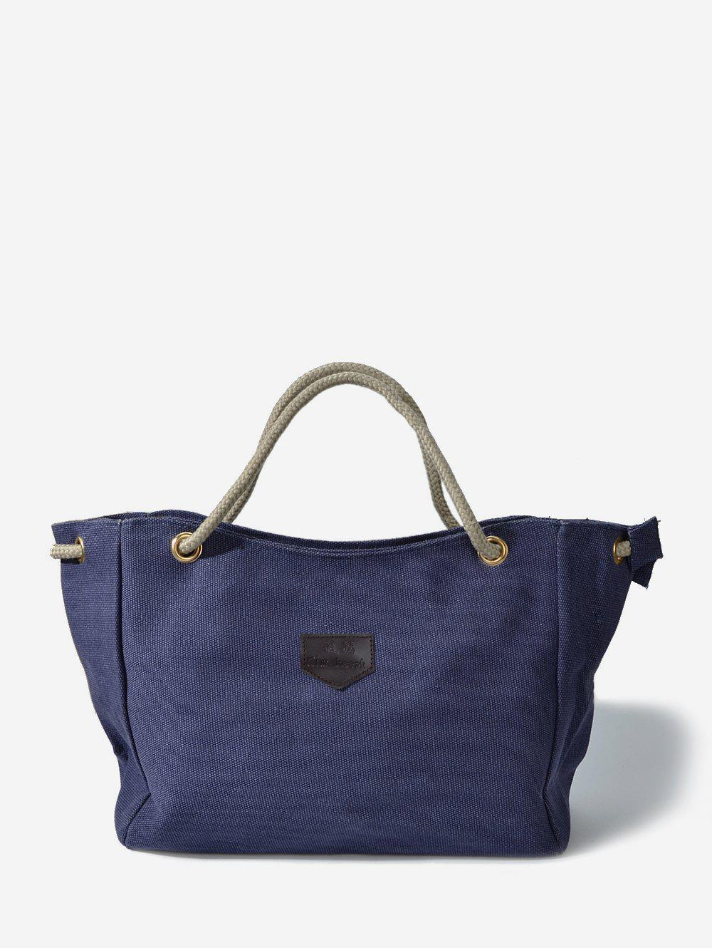 Casual Canvas Rope Tote Bag - BLUE