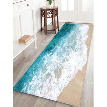 Beach Waves Pattern Floor Rug