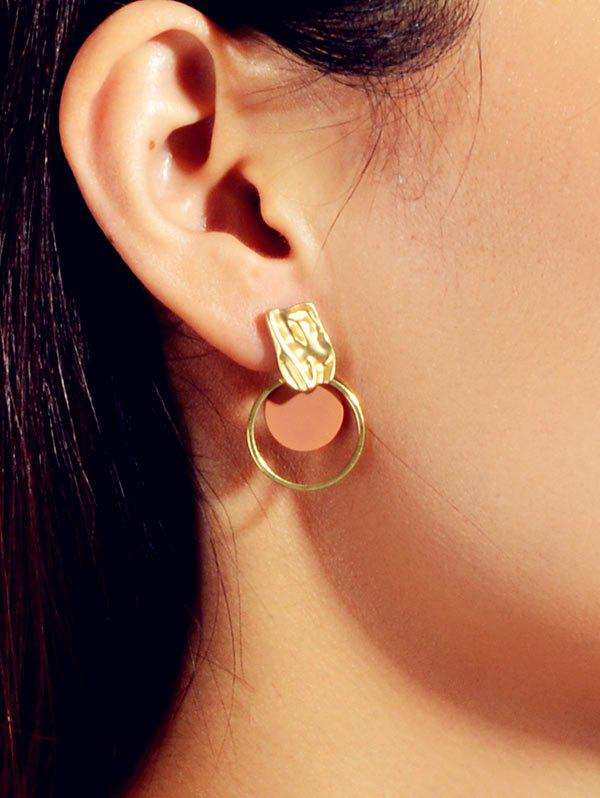 Brief Round Textured Stud Earrings - GOLD