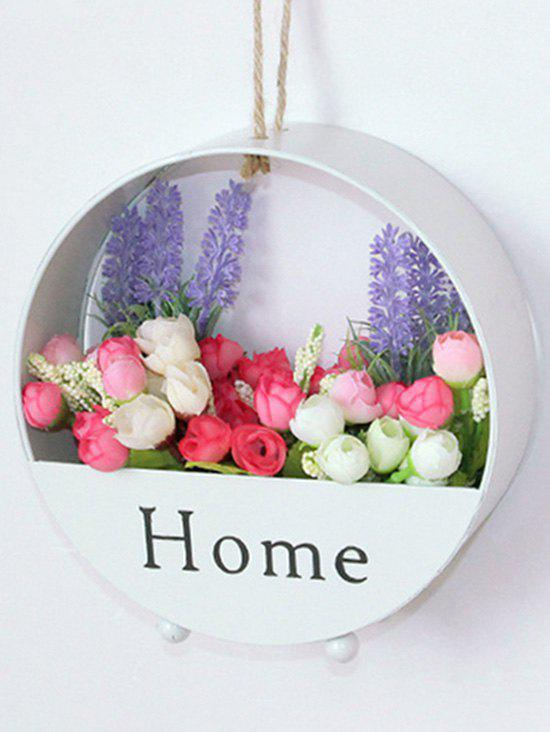 Round Wall Decoration Hanging Plant Pot - WHITE