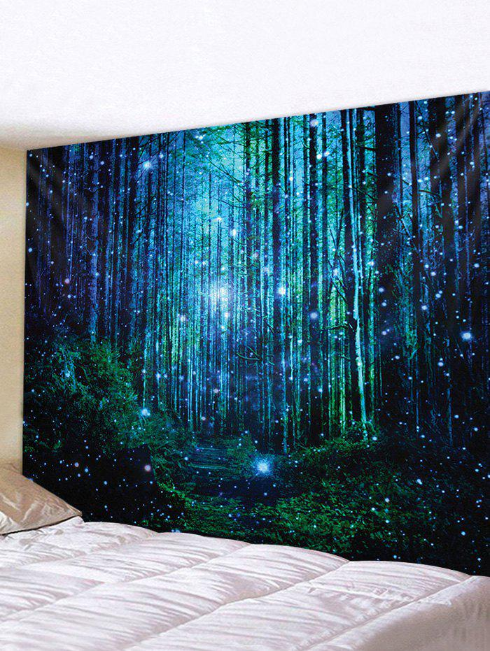 3D Print Forest Waterproof Wall Tapestry - multicolor W91 X L71 INCH