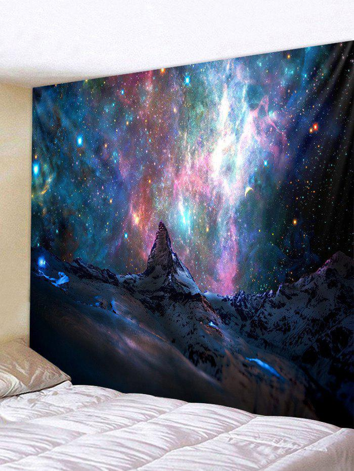 Galaxy Mountain Print Wall Tapestry - multicolor W91 X L71 INCH