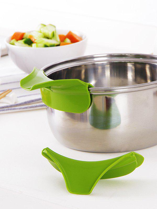 Kitchen Tool Silicone Pour Soup Funnel Water Deflector - GREEN