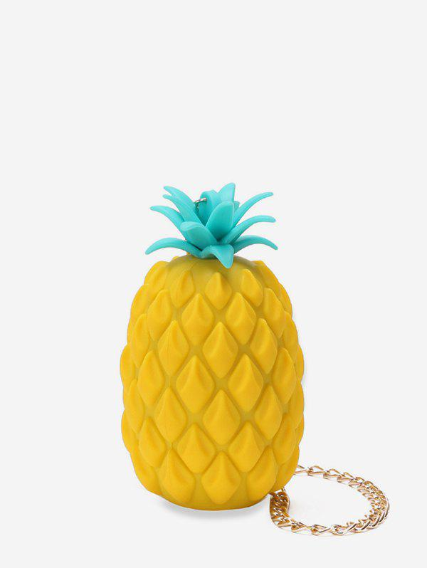 Personality Pineapple Shape Chain Crossbody Bag - YELLOW