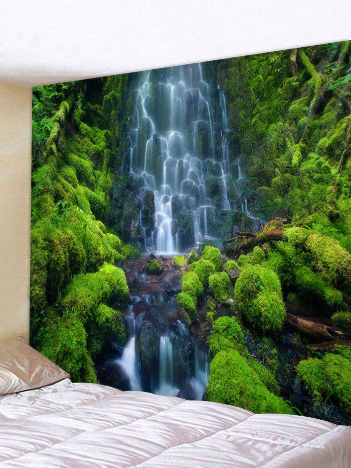 Falls Mountain Printed Wall Tapestry - multicolor W59 X L51 INCH