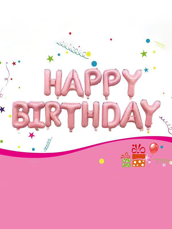 Party Decoration Birthday Letters Foil Aluminum Balloons - PINK