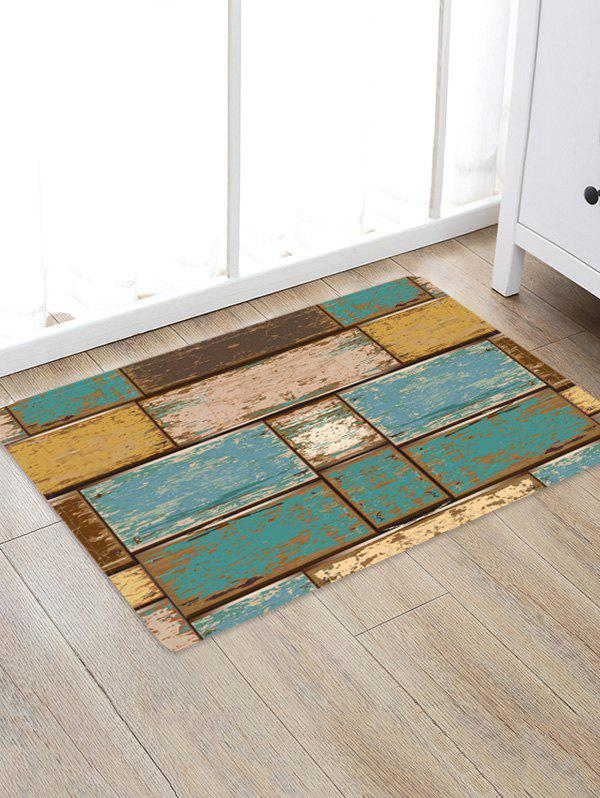 Retro Wood Board Decor Rug - multicolor W16 X L24 INCH