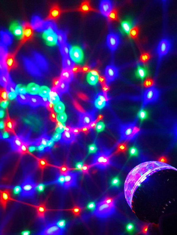 LED RGB Rotating Party lampe Ampoule - multicolor A