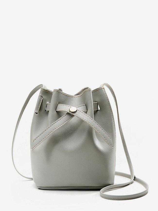 Bucket Crossbody Bag - GRAY GOOSE