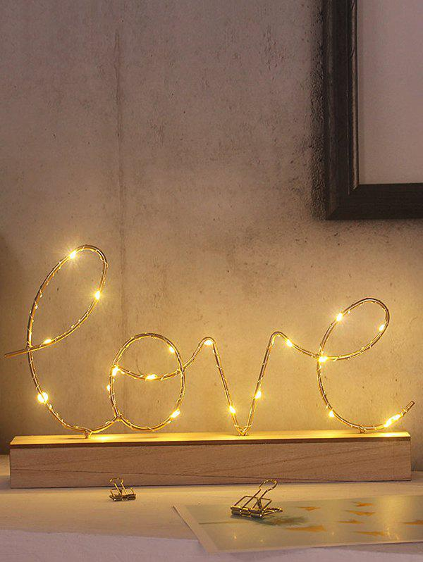 Lettres Motif de base en bois décoratif LED Night Light - multicolor A