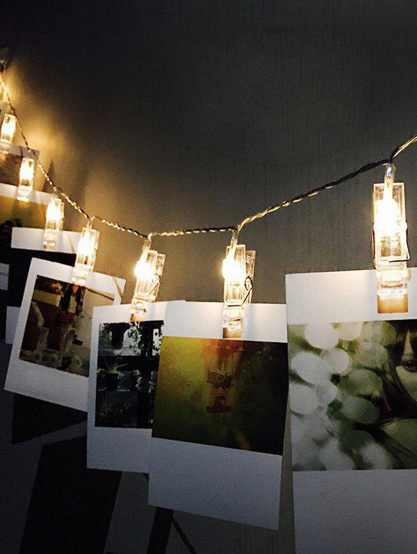 3 Meters DIY Photo Clip LED String Lights - multicolor A