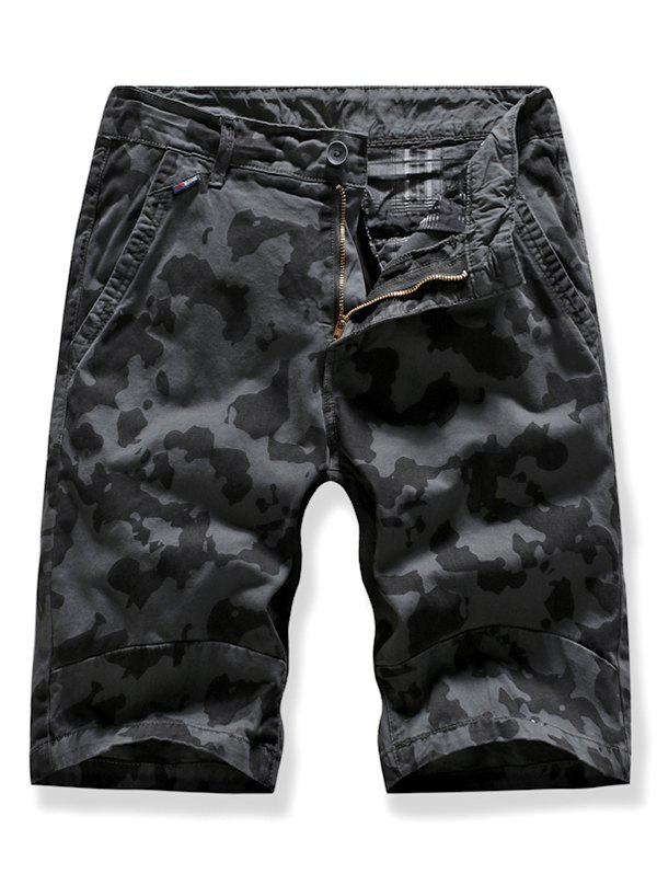 Camo Multi-pocket Casual Cargo Shorts - DARK GRAY 32