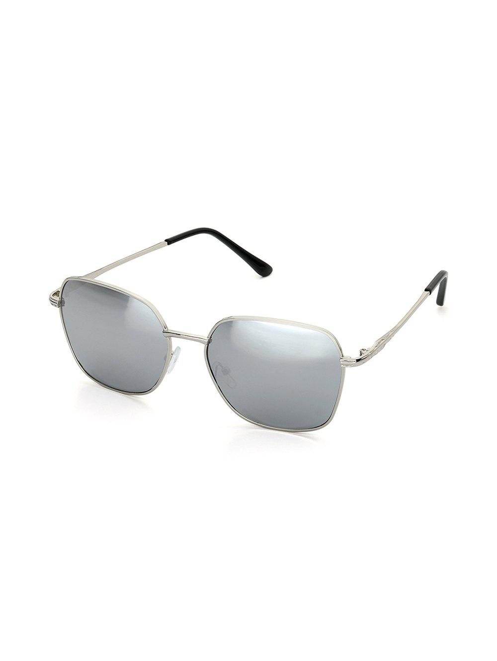 Retro Driver Square Metal Sunglasses - GRAY