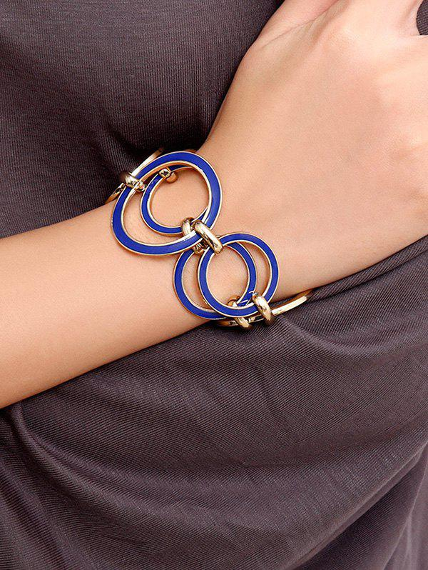 Hollow Circles Alloy Bracelet - GOLD