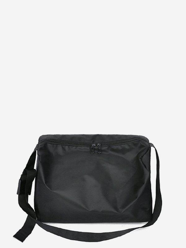 Casual High-capacity Travel Crossbody Bag - BLACK