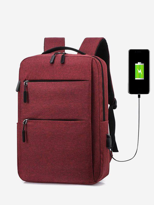 Brief Business Scratch-proof Computer Backpack - RED WINE