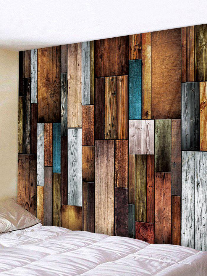 Wood Plank Printing Wall Tapestry - WOOD W79 X L59 INCH
