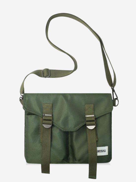 Retro Letter Crossbody Messenger Bag - ARMY GREEN