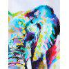 Paint Splatter Elephants Pattern Unframed Painting - multicolor A 16 X 24 INCH