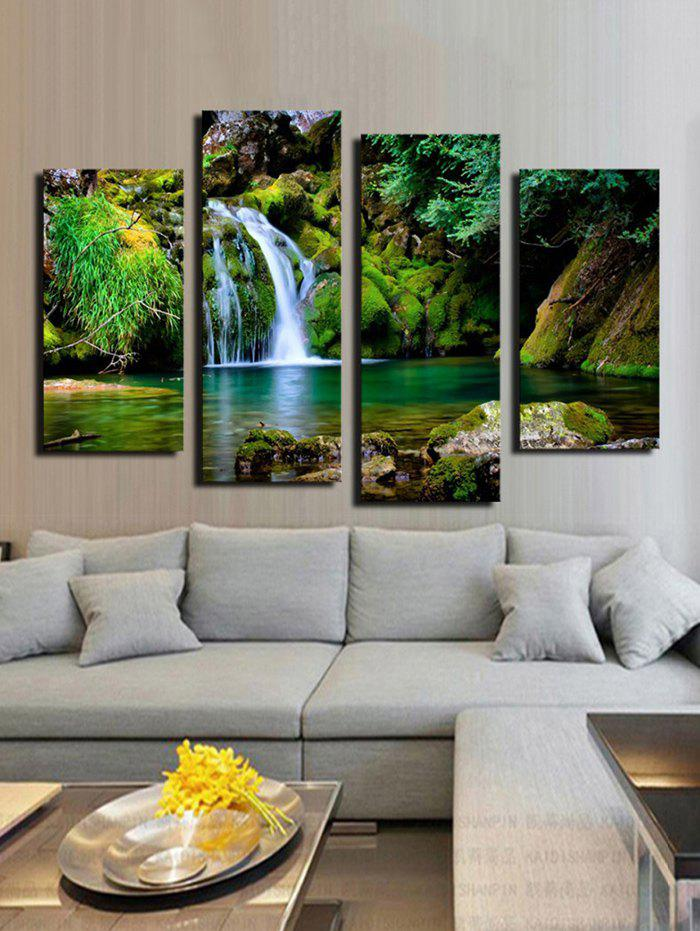 Waterfall River Pattern Split Unframed Paintings - multicolor A 2PCS X 12 X 24,2PCS X 12 X 31 INCH( NO FRAME )