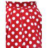 Polka Dot A Line Vintage Skirt - RED 2XL