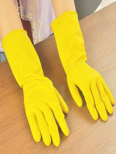 Kitchen Tool Waterproof Dishwashing Gloves - YELLOW