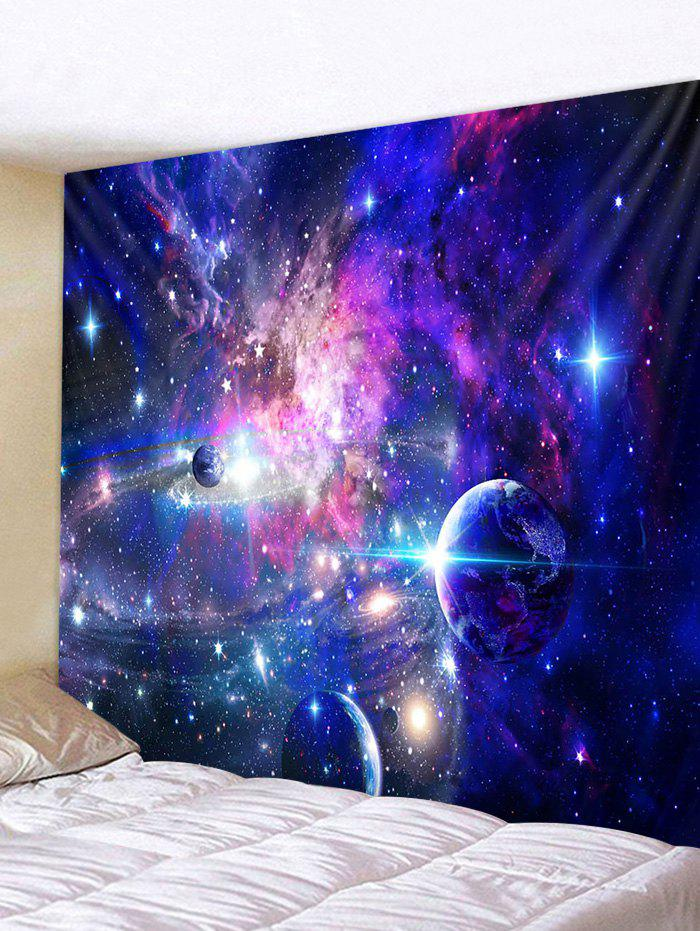 Polyester Starry Sky Pattern Decor Tapestry - multicolor W91 X L71 INCH
