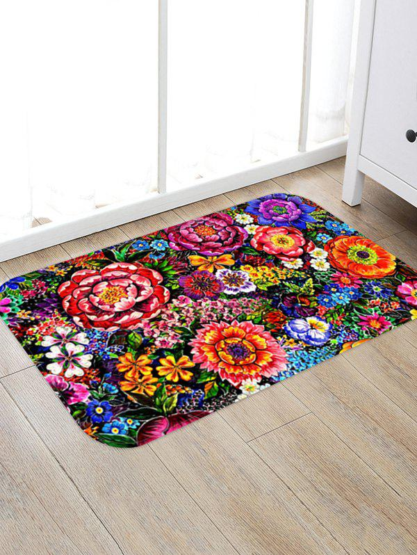 Colorful Flower Print Antiskid Area Rug - multicolor A W16 X L24 INCH
