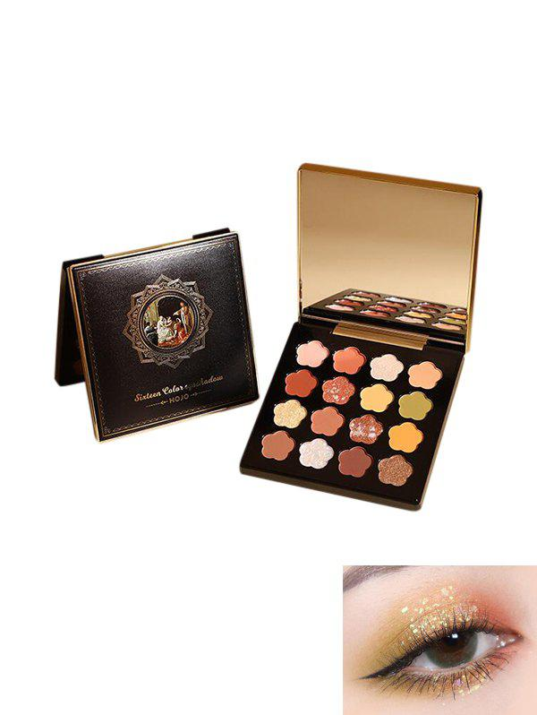 Floral Shaped Glitter Eyeshadow Kit - multicolor A