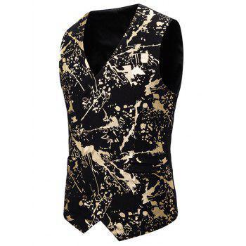 Gliding Splatter Paint Double Breasted Casual Vest