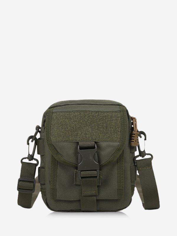 Casual Solid Messenger Crossbody Bag - ARMY GREEN