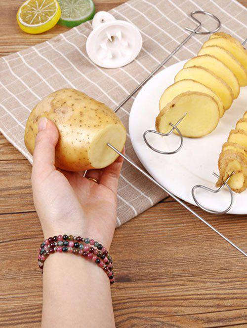 Kitchen Tool Spiral Potato Cutter Slicer - SILVER