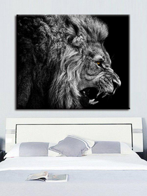 Unframed Lion Wall Art Painting - multicolor A 20 X 24 INCH