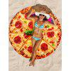 Pizza Print Round Beach Throw - multicolor ONE SIZE