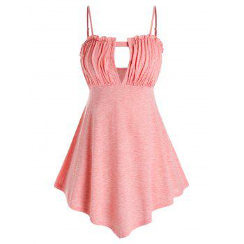 Plus Size Cutout Ruched Tank Top