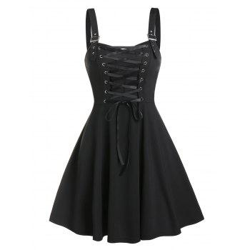 Fit And Flare Lace Up Dress