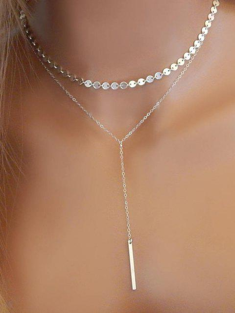 Layered Sequins Y Shaped Necklace