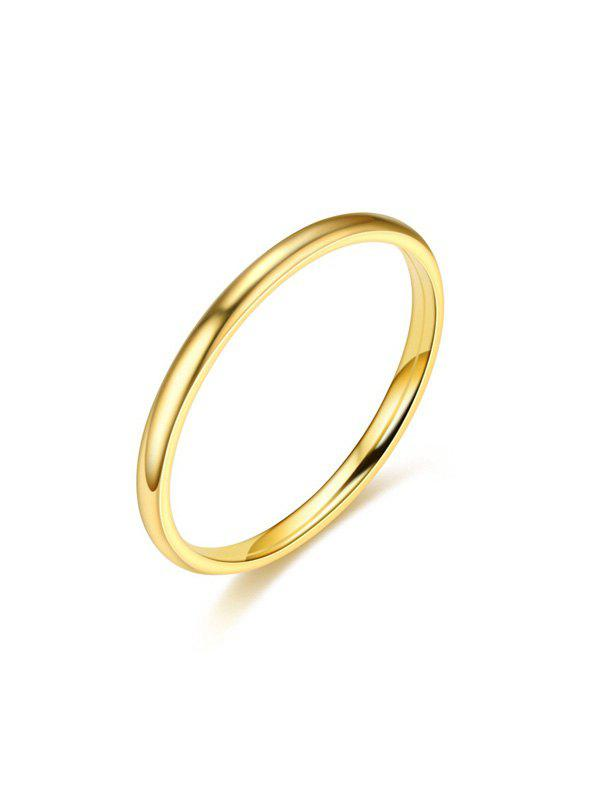 Smooth Titanium Steel Couple Ring - GOLD US 6