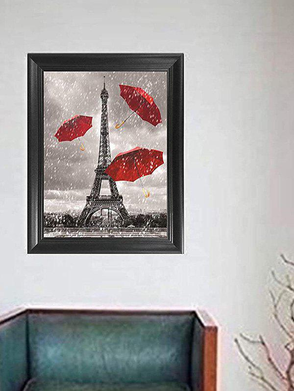 Home Decoration Eiffel Tower Pattern Wall Poster - GRAY 30*40CM