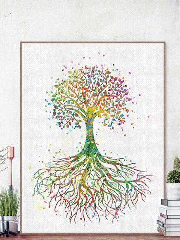 Home Decoration Colorful Tree Print Wall Poster - multicolor A 40*60CM