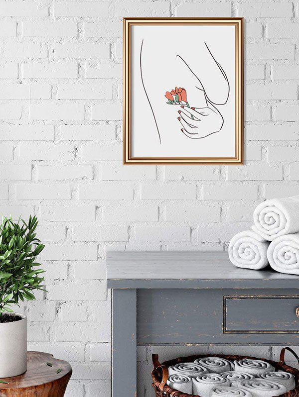 Home Decoration Rose Body Sketch Print Wall Poster - BLACK 30*40CM