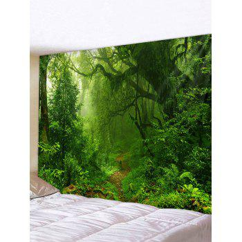 Forest Trail Printed Tapestry Wall Hanging Art