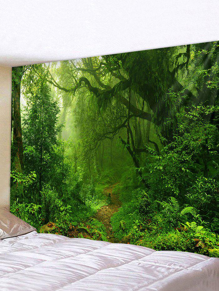 Forest Trail Printed Tapestry Wall Hanging Art - multicolor W91 X L71 INCH