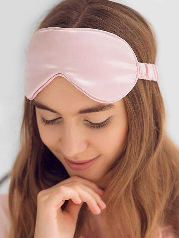 Elastic Strap Blackout Satin Sleep Mask - PINK