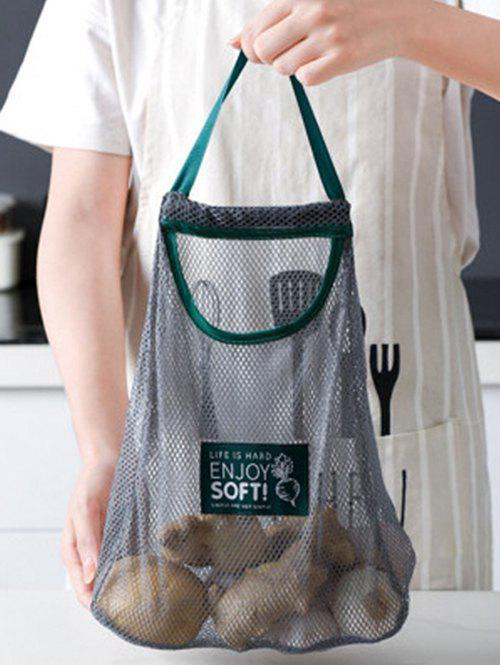 Fruits And Vegetables Wall-mounted Hollow Storage Bag - GRAY CLOUD