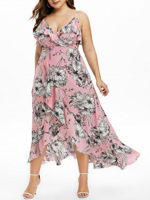 Plus Size Cami Split Flounce Maxi Dress