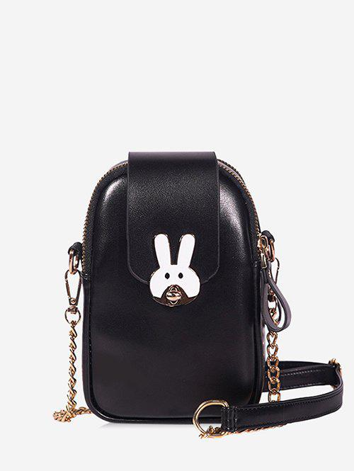 Rabbit Mini Chain Crossbody Bag - BLACK