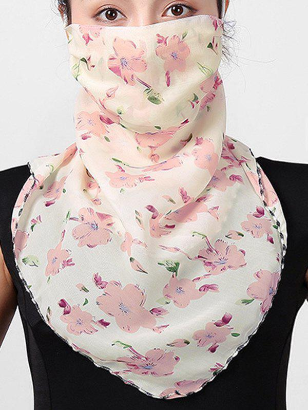 Outdoor Flower Printed Sun-proof Mask Scarf - BLONDE